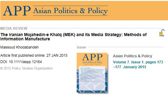 Massoud Khodabandeh Article first published online: 27 JAN 2015 DOI: ۱۰٫۱۱۱۱/aspp.12164